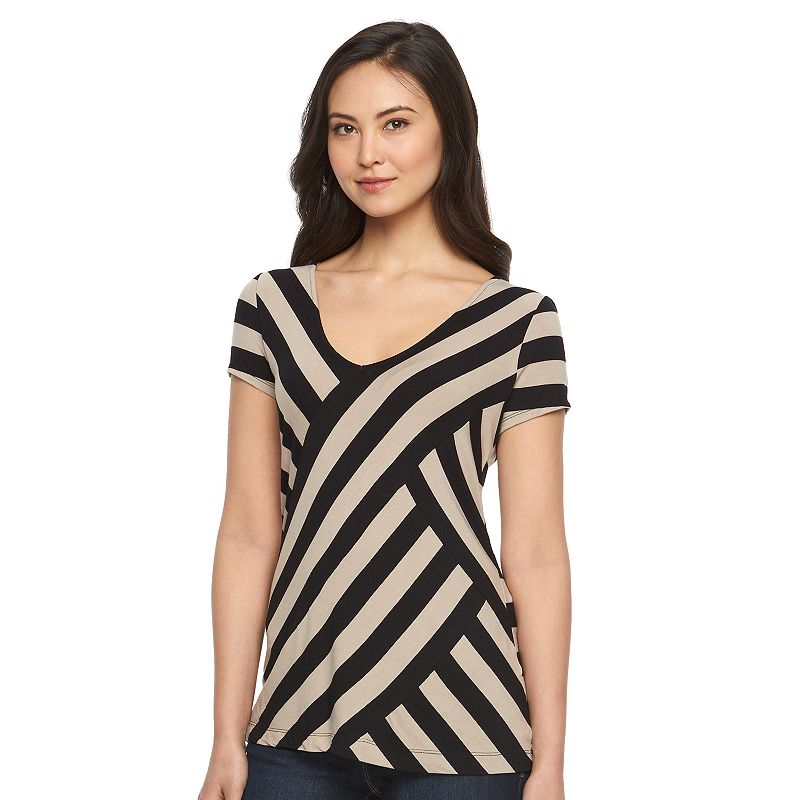 Women's Dana Buchman Striped V-Neck Top
