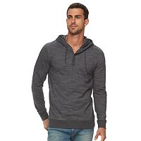 Men's Marc Anthony Slim-Fit Striped Textured Henley Hoodie