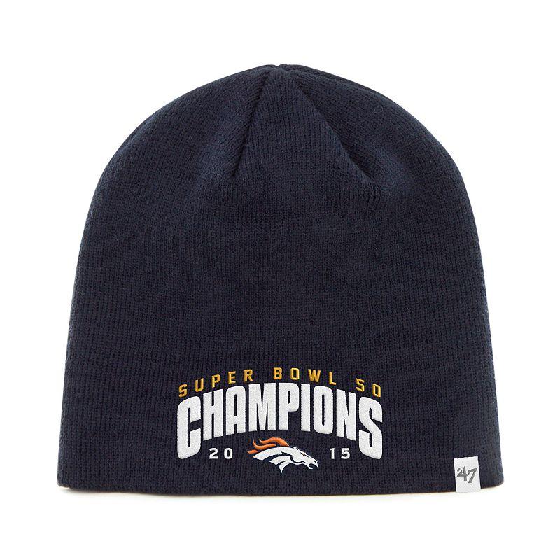 Adult '47 Brand Denver Broncos Super Bowl 50 Champions Knit Hat