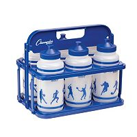 Champion Sports Collapsible Water Bottle Carrier & Bottles Set