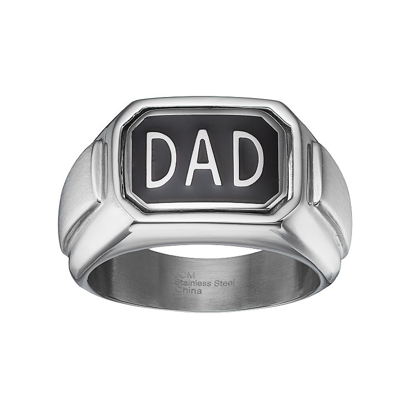 Diamond Accent Stainless Steel Reversible