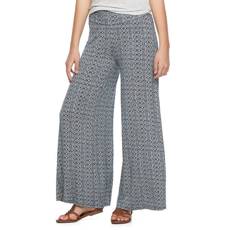 Juniors' About A Girl Knit Palazzo Pants
