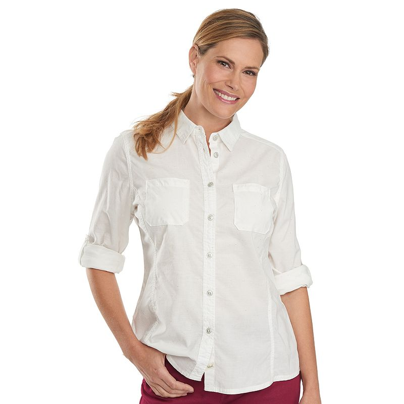 Women's Woolrich Conundrum Chambray Roll-Tab Shirt