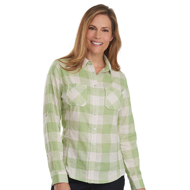 Women's Woolrich Conundrum Plaid Roll-Tab Shirt