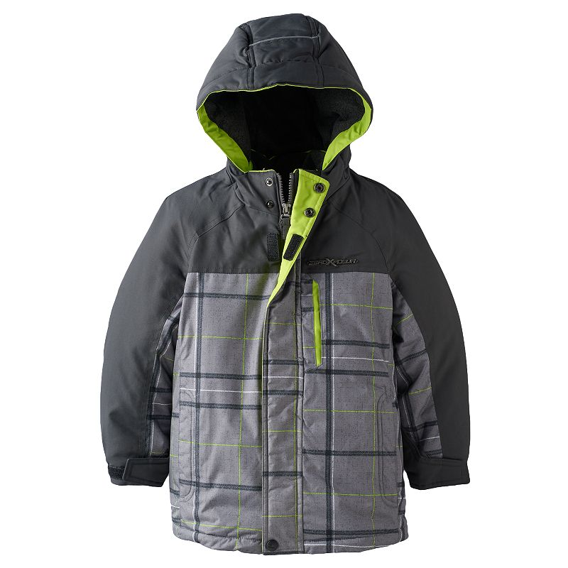 Boys 4-7 ZeroXposur Plaid 3-in-1 Contrast Systems Jacket
