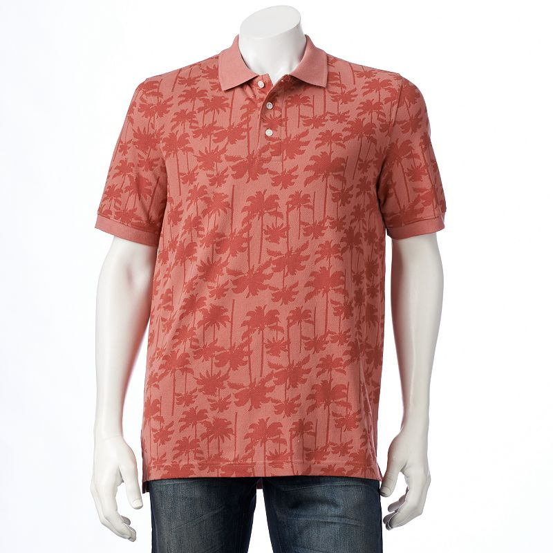 Big & Tall Croft & Barrow Classic-Fit Patterned Pique Polo