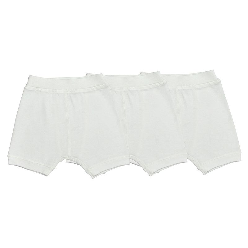 Baby Boy Burt's Bees Baby 3-pk. Solid Organic Boxer Shorts