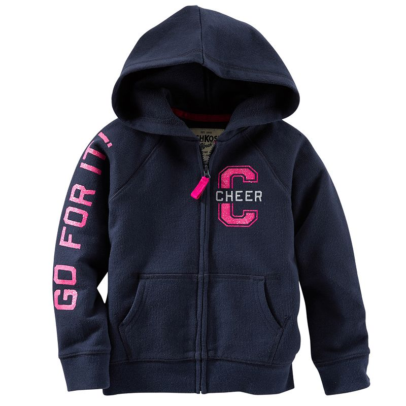 Girls 4-8 OshKosh B'gosh® French Terry Graphic Hoodie