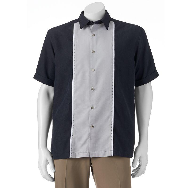 Men's Havanera Contrast Panel Classic-Fit Button-Down Shirt