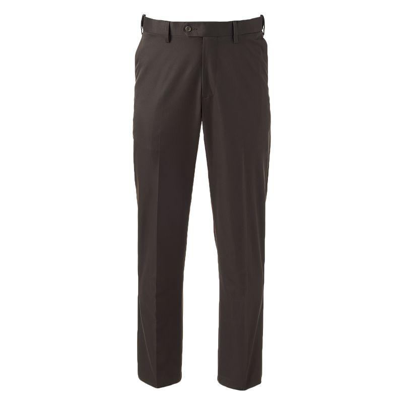 Men's Croft & Barrow® Classic-Fit Straight-Fit Performance Khaki Flat-Front Pants