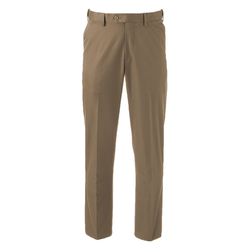 Men's Croft & Barrow® Classic-Fit Straight-Fit Performance Khaki Flat-Front Pants