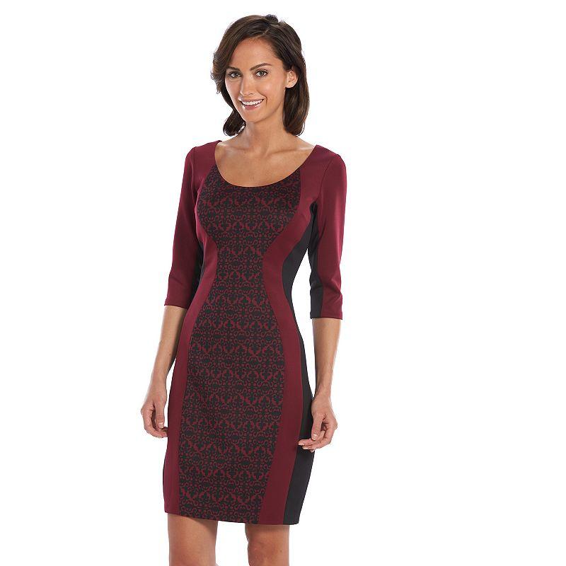 Chaya Colorblock Scuba Sheath Dress - Women's