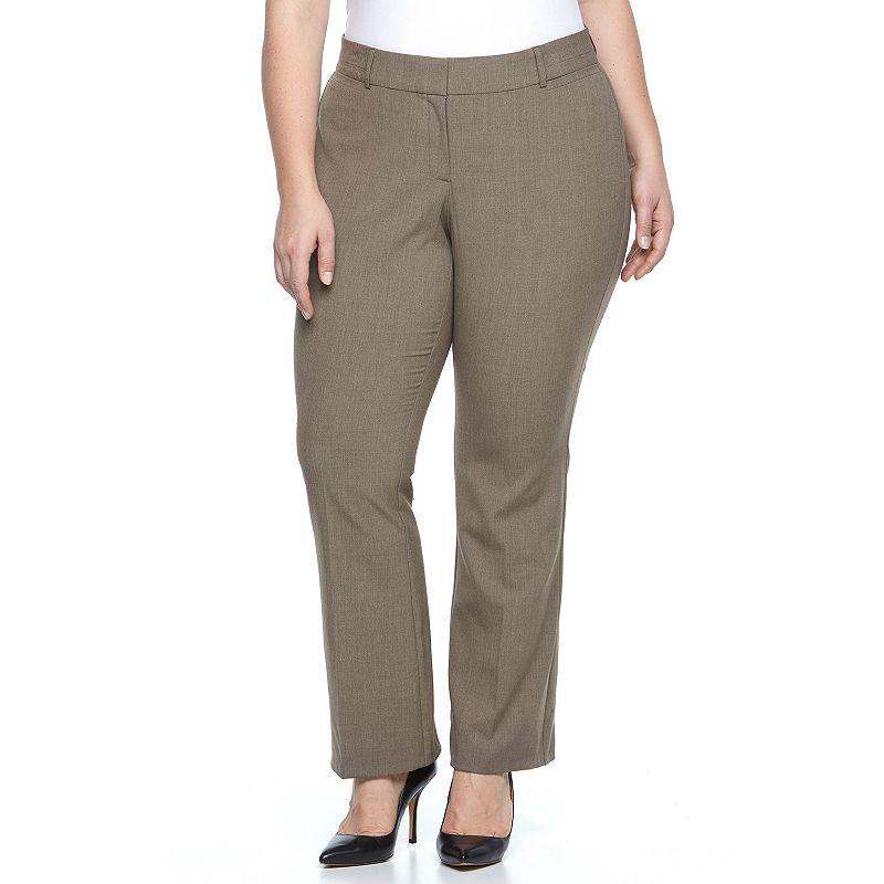 Plus Size Briggs Curvy Bootcut Dress Pants