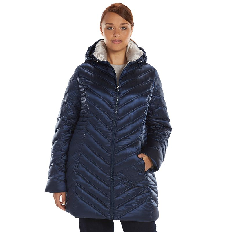 Plus Size Apt. 9® Twinkle Packable Chevron Puffer Jacket
