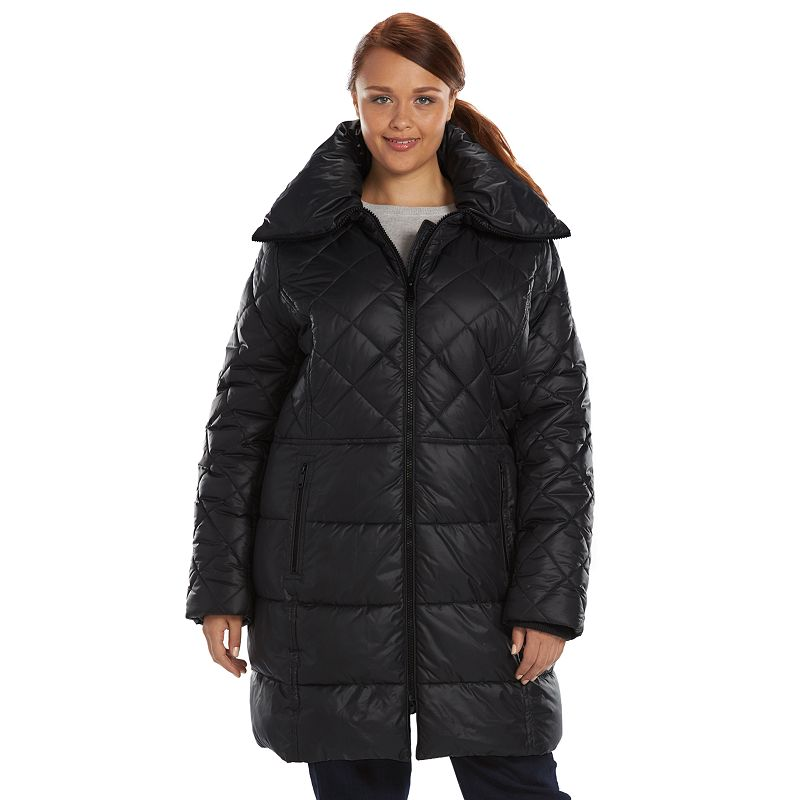Plus Size Apt. 9® Hooded Shawl Collar Puffer Jacket