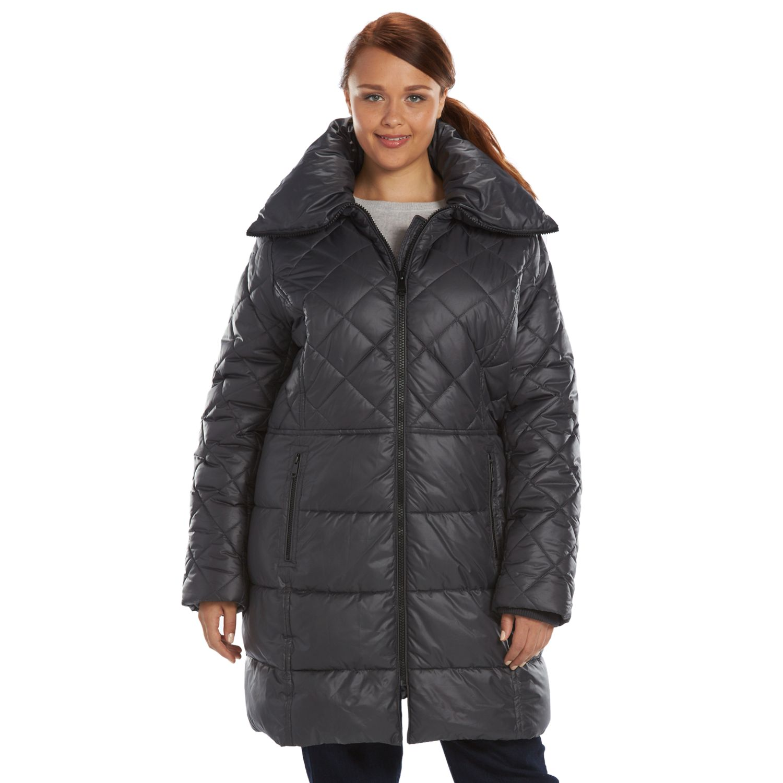 Plus Size Apt. 9? Hooded Shawl Collar Puffer Jacket