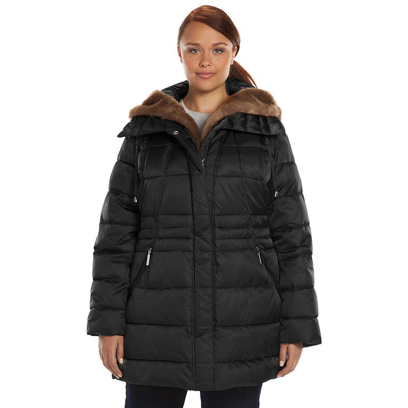 Plus Size Apt. 9® Hooded Trapunto Puffer Jacket