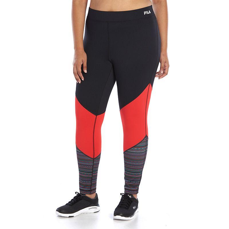 Plus Size FILA SPORT® Colorblock Workout Leggings