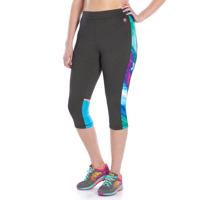 Plus Size FILA Sport® Heathered Reaction Skimmer Leggings, Women's, Size: 1XL, Med Grey