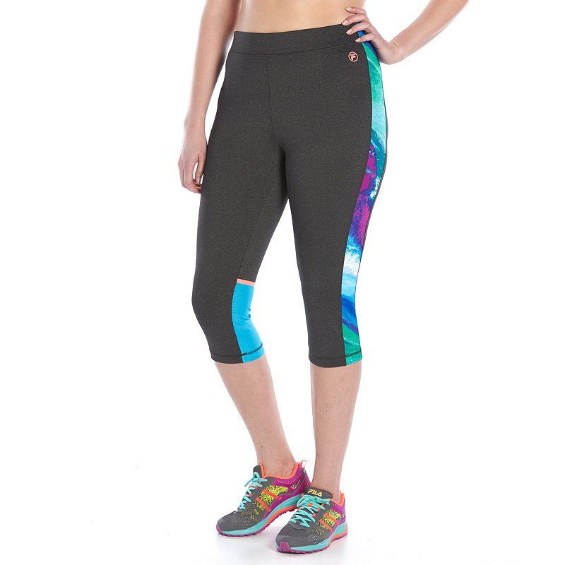 Plus Size FILA SPORT® Heathered Reaction Skimmer Leggings
