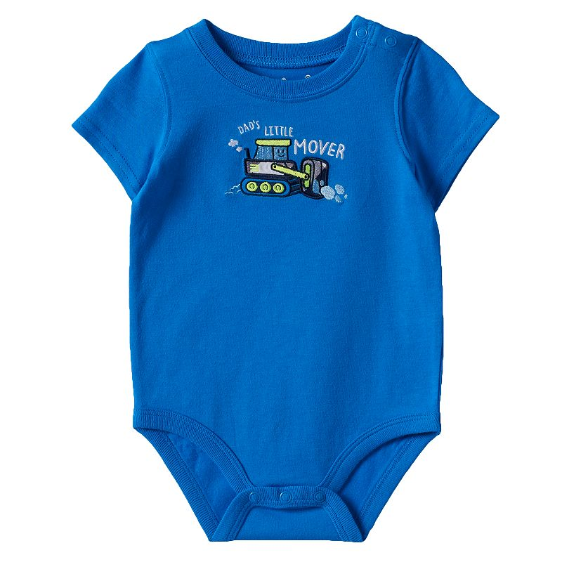 Baby Boy Jumping Beans® Plaid Applique Bodysuit