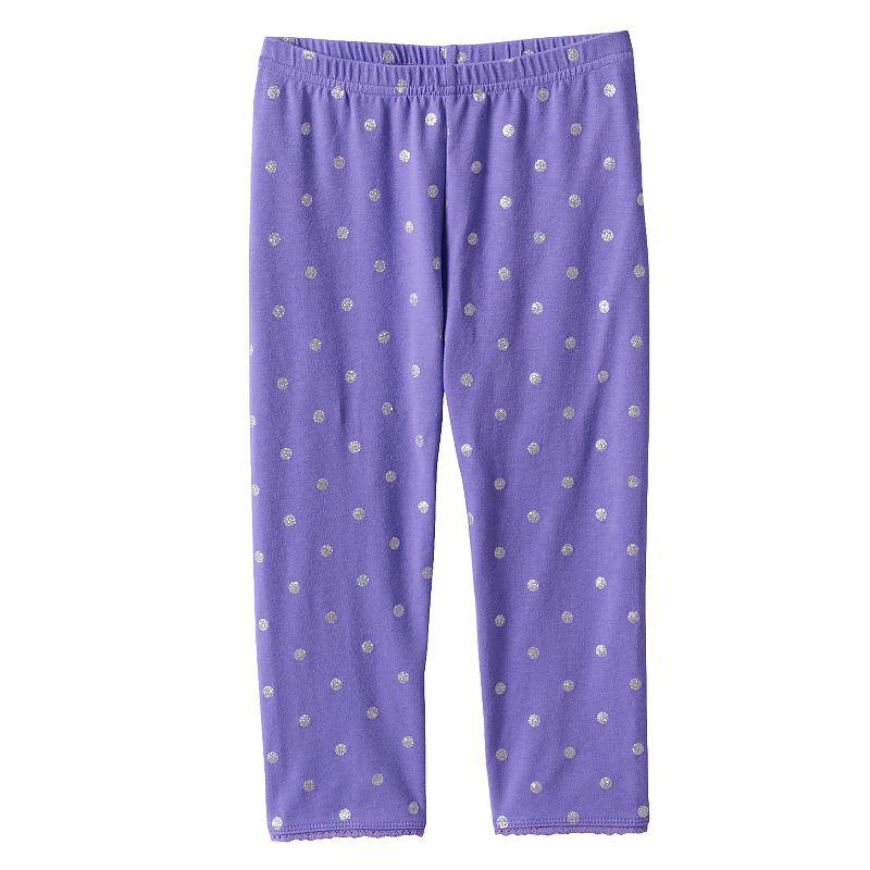 Girls 4-7 Jumping Beans® Printed Picot-Trim Capri Leggings
