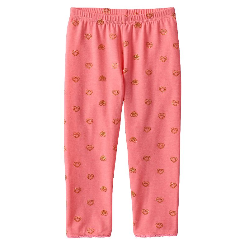 Girls 4-7 Jumping Beans® Printed Picot-Trim Capri Leggings