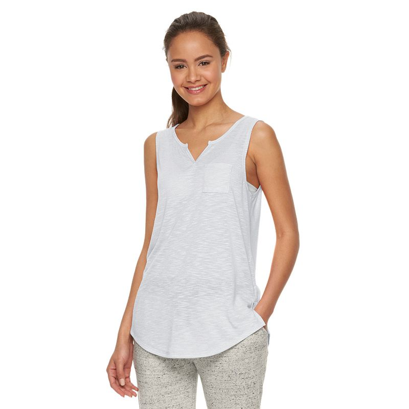 Juniors' SO® Splitneck Tank Top