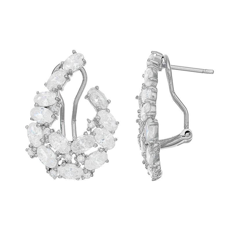 Sophie MillerSterling Silver Cubic Zirconia Teardrop Earrings
