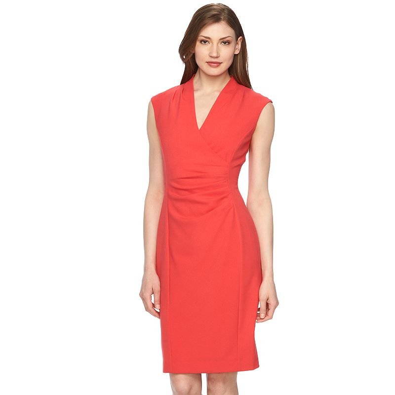 Women's Dana Buchman Surplice Sheath Dress