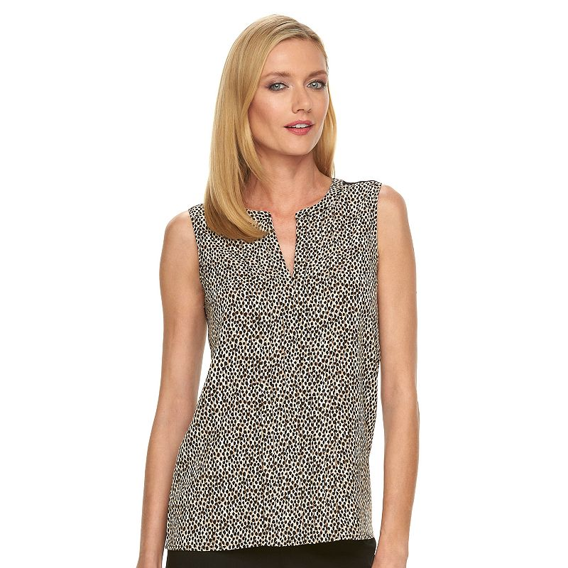 Women's Dana Buchman Pleat-Front Top