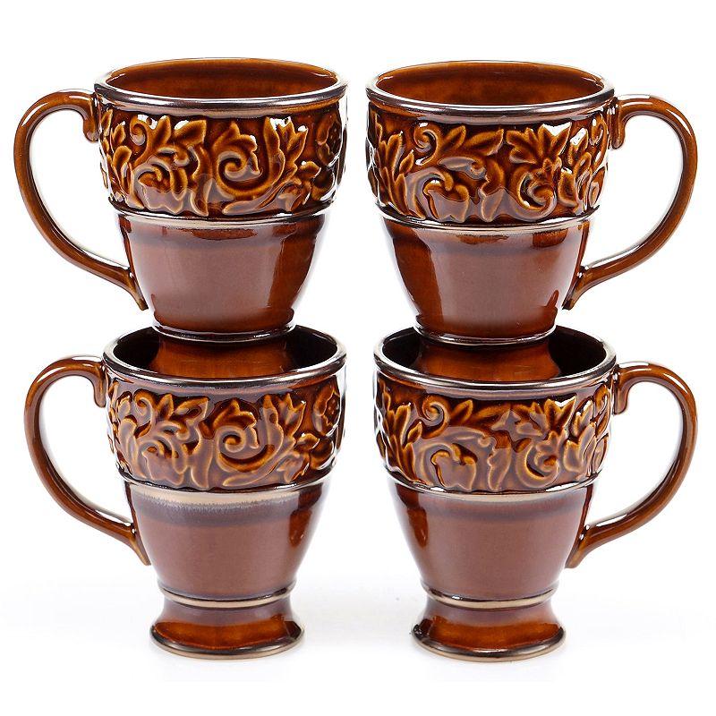 Certified International Solstice Brown 4-pc. Coffee Mug Set