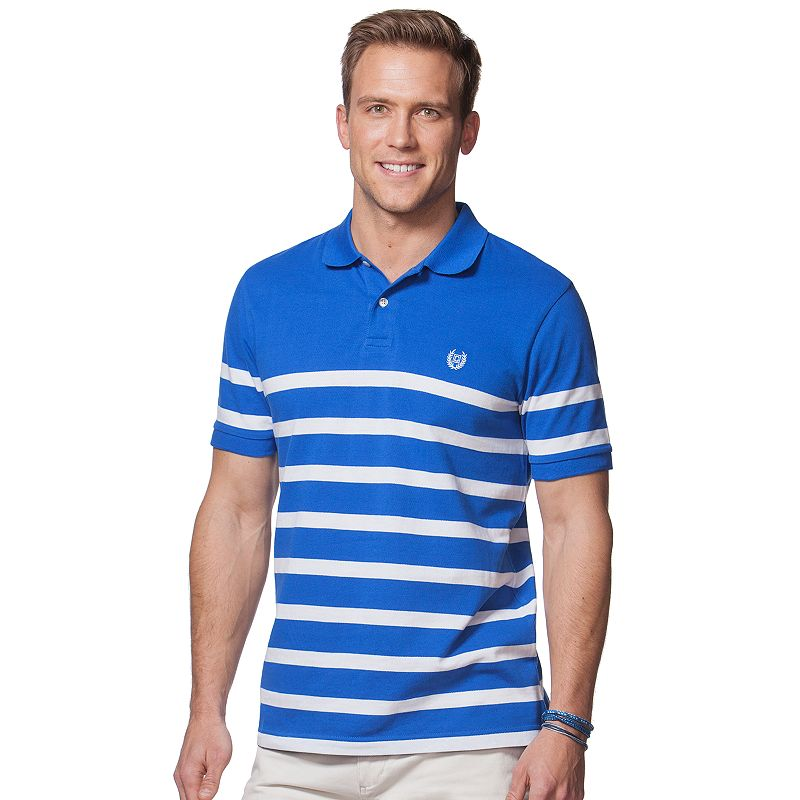 Men's Chaps Classic-Fit Engineer-Striped Polo