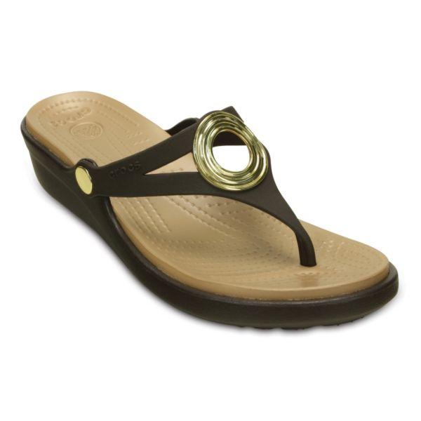 Crocs Sanrah Women's Wedge Thong Sandals