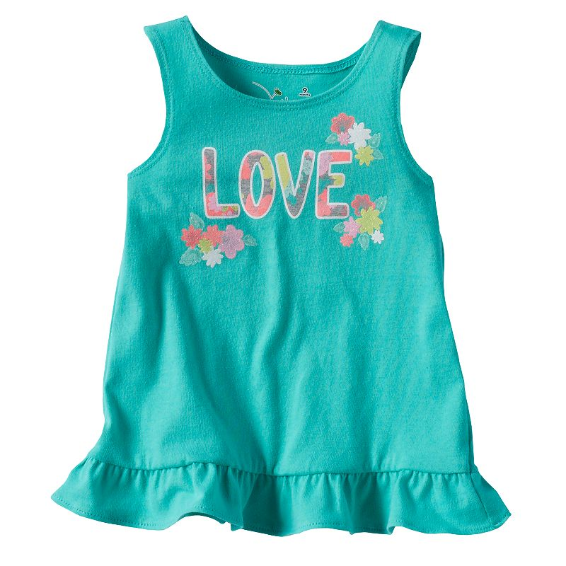 Baby Girl Jumping Beans® Glitter Graphic Tunic Tank