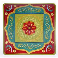 Certified International Tunisian Sunset 14.25-in. Square Serving Platter