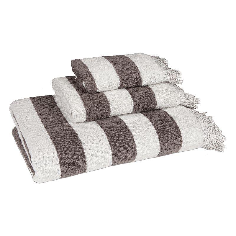 American Dawn Brooklyn Fringe 3-piece Bath Towel Set