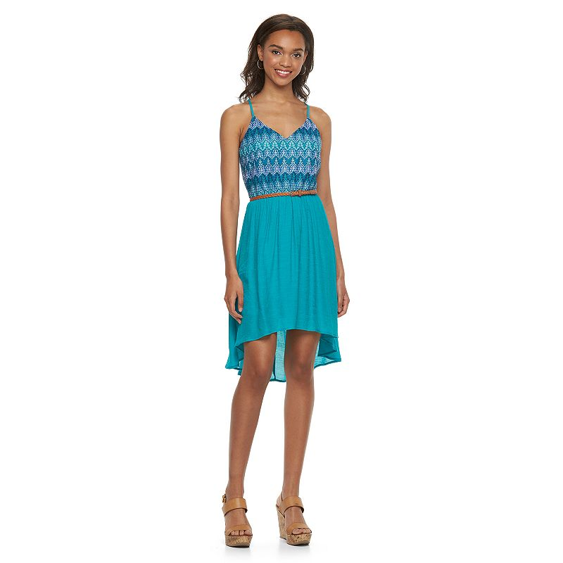 Juniors' Lily Rose Gauze Halter Dress