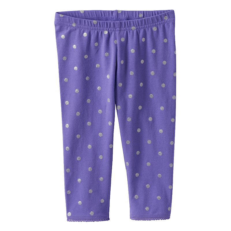 Toddler Girl Jumping Beans® Girly Printed Capri Leggings