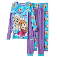 Disney's Frozen Elsa & Anna Girls 4-10 Snowflake Pajama Set