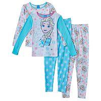 Disney's Frozen Elsa Girls 4-10 4-pc. Pajama Set
