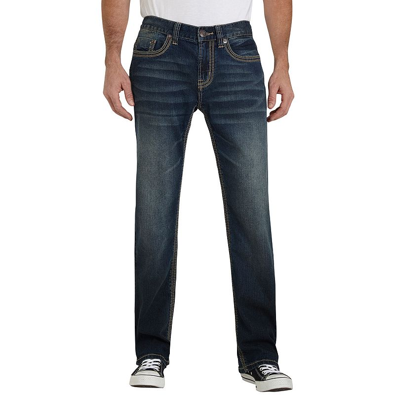 Men's Seven7 Speaker Stretch Straight-Leg Jeans, Size: 30X32, Med Blue