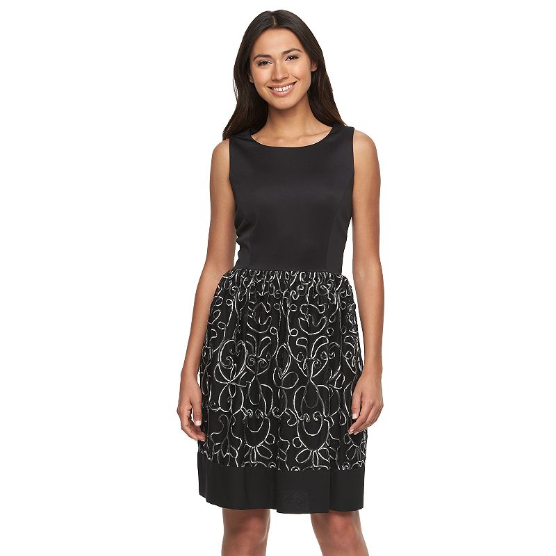 Women's Ronni Nicole Soutache Fit & Flare Dress