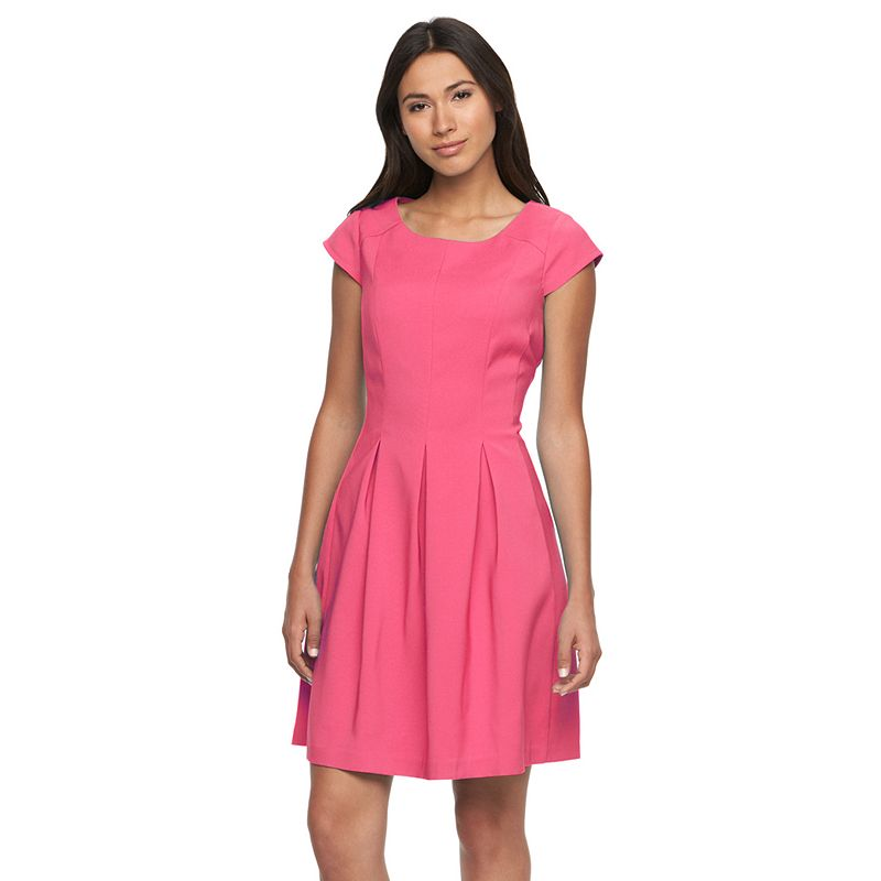 Women's Ronni Nicole Solid Fit & Flare Dress