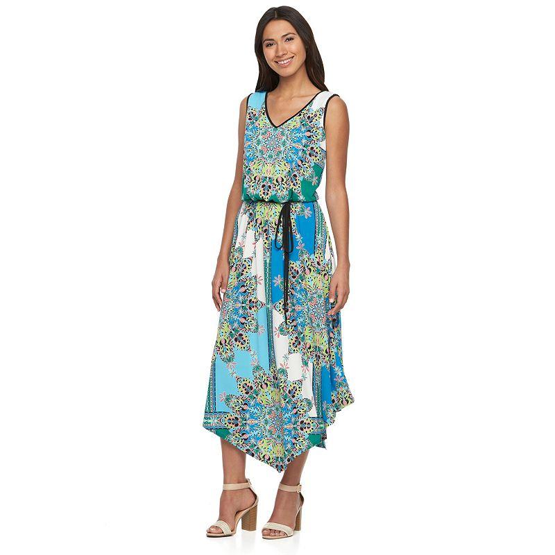 Women's Suite 7 Kaleidoscope Blouson Maxi Dress