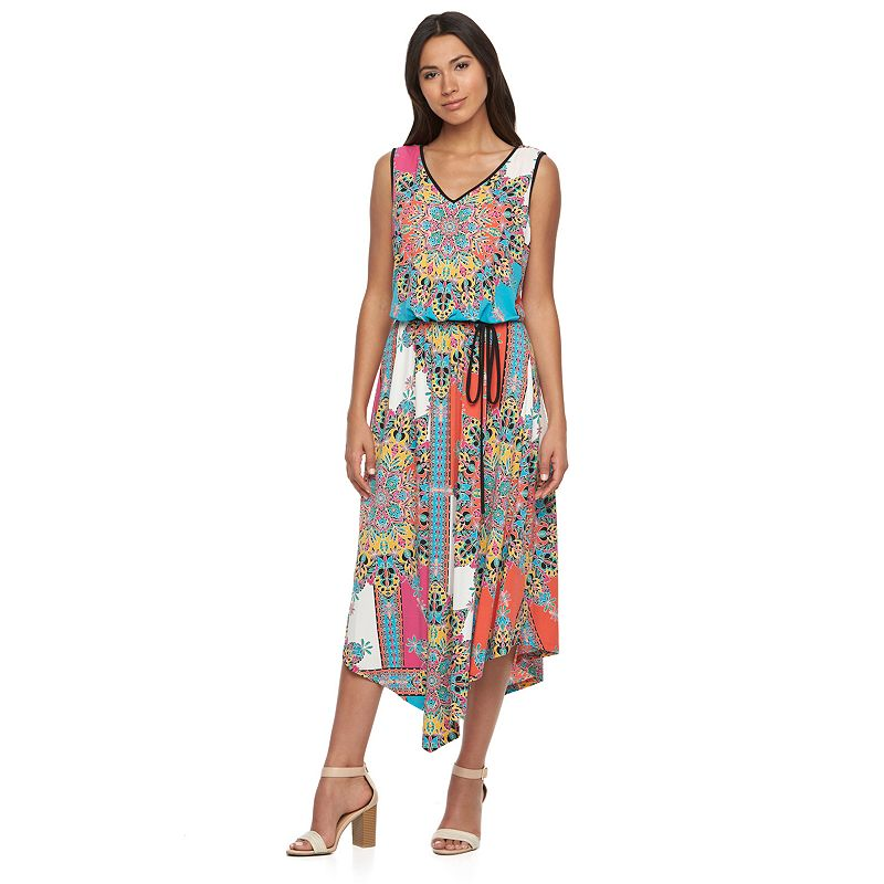 Women's Suite 7 Kaleidoscope Blouson Maxi Dress