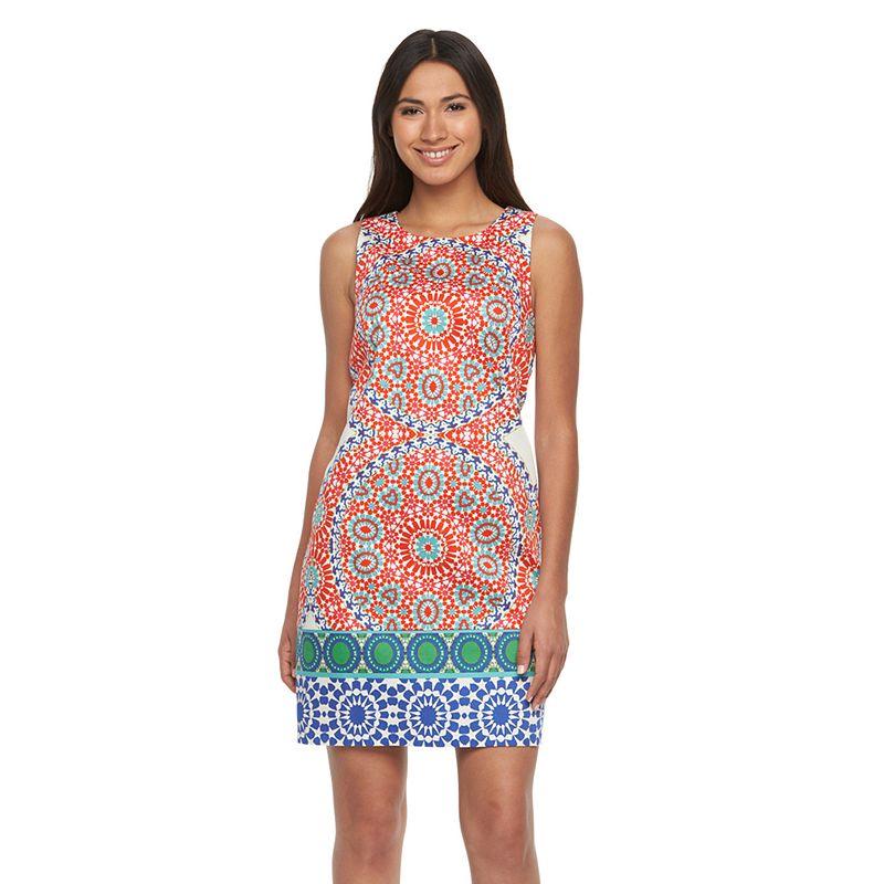 Women's Suite 7 Mosaic Print Shift Dress