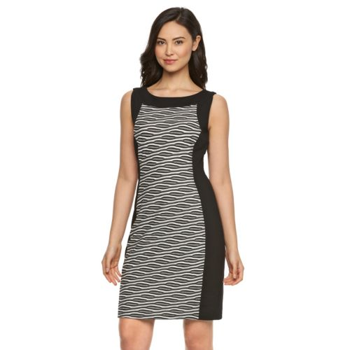 Women's Dana Buchman Wavy Jacquard Sheath Dress