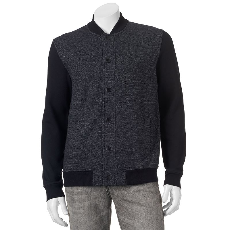 Marc Anthony® Slim-Fit Mixed Media Knit Bomber Jacket - Men