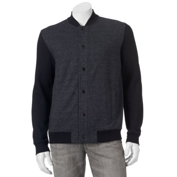 Marc Anthony® Slim-Fit Mixed Media Knit Bomber Jacket - Men